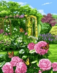 Royal Paris Tapestry/Needlepoint - Butterfly Garden
