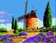 Royal Paris Tapestry/Needlepoint - The Old Windmill
