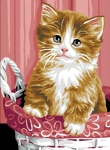 Royal Paris Tapestry/Needlepoint - Kitten in Basket