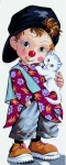 Royal Paris Tapestry/Needlepoint - Little Clown Pio