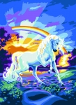 Royal Paris Tapestry/Needlepoint - Rainbow Unicorn