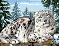 Royal Paris Tapestry/Needlepoint - Snow Leopard