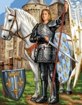 Royal Paris Tapestry/Needlepoint - St. Joan of Arc