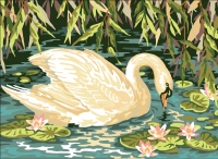 Royal Paris Tapestry/Needlepoint - Swan Sunrise