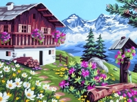 Royal Paris Tapestry/Needlepoint - The Chalet in Bloom