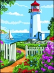Royal Paris Tapestry/Needlepoint - The Lighthouse