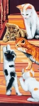 Royal Paris Tapestry/Needlepoint Canvas � Cats on the Stairs