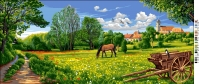 Royal Paris Tapestry/Needlepoint Canvas - Countryside Landscape
