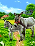 Royal Paris Tapestry/Needlepoint Canvas - Donkeys