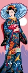 Royal Paris Tapestry/Needlepoint Canvas - Geisha Beauty
