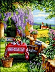 Royal Paris Tapestry/Needlepoint Canvas - In the Shade of Wisteria