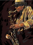 Royal Paris Tapestry/Needlepoint Canvas - Saxophonist