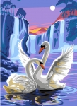 Royal Paris Tapestry/Needlepoint Canvas - Swan Dreams