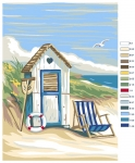 Royal Paris Tapestry/Needlepoint Canvas - The Beach