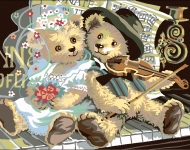 Royal Paris Tapestry/Needlepoint Canvas - The Bear's Wedding