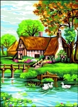 Royal Paris Tapestry/Needlepoint Canvas - The Cottage