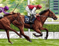 Royal Paris Tapestry/Needlepoint Canvas � The Horse Race