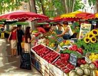Royal Paris Tapestry/Needlepoint Canvas - The Market