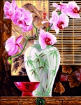 Royal Paris Tapestry/Needlepoint Canvas � The Orchid Vase