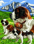 Royal Paris Tapestry/Needlepoint Canvas - The St. Bernard