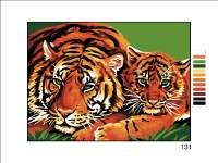 Royal Paris Tapestry/Needlepoint Canvas - Tigers in the Wild