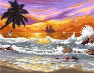 Royal Paris Tapestry/Needlepoint Canvas � Tropical Sunset