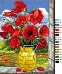 Royal Paris Tapestry/Needlepoint Canvas - Vase of Poppies