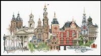 Thea Gouverneur Cross Stitch Kit - Amsterdam/Holland 18#