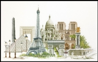 Thea Gouverneur Cross Stitch Kit - Paris