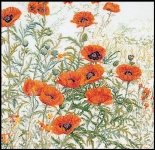 Thea Gouverneur Cross Stitch Kit - Poppy Field