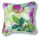 Tramme Tapestry/Needlepoint Kit - Rampant Pink/Blue Floral