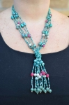 5-strand knotted Fair Trade necklace