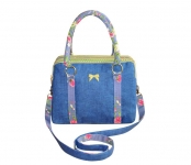 Alice FairTrade Flower Handbag Blue and Green by Earth Squared
