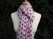 Amore Hearts Cashmere Scarf 