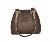 Ava Fairtrade Felt Handbag by Earth Squared  Brown