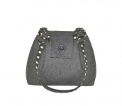 Ava Fairtrade Felt Handbag by Earth Squared Grey