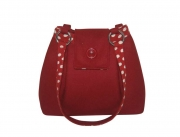 Ava Fairtrade Felt Handbag by Earth Squared Red