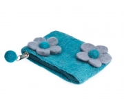 Baby Doublet Fairtrade Felt flower Purse by Felt So Good