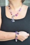 Beaded Purple and Pink Fair Trade Necklace