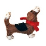 Berties Bassett Hound Dog Felt Brooch