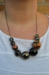 Black Bauble Bead Necklace