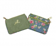 Alice Floral Purse Blue and Green