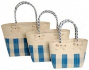 Daisy Bow Straw  Fairtrade Beach or Shopping Bag