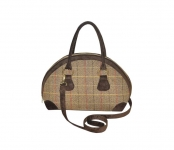 Bowling Fairtrade Tweed Handbag by Earth Squared  Brown