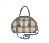 Bowling Fairtrade Tweed Handbag by Earth Squared  Cream