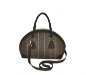 Bowling Fairtrade Tweed Handbag by Earth Squared  Green