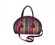 Bowling Fairtrade Tweed Handbag by Earth Squared  Plum