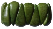 Chambazz Fair Trade Tagua Bracelet  Green