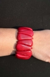 Chambazz Fair Trade Tagua Bracelet Deep Pink