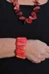 Chambazz Fair Trade Tagua Bracelet Salmon Pnk